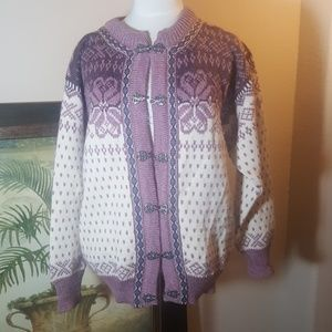 DALE OF NORWAY Wool Sweater/Jacket - Size Small